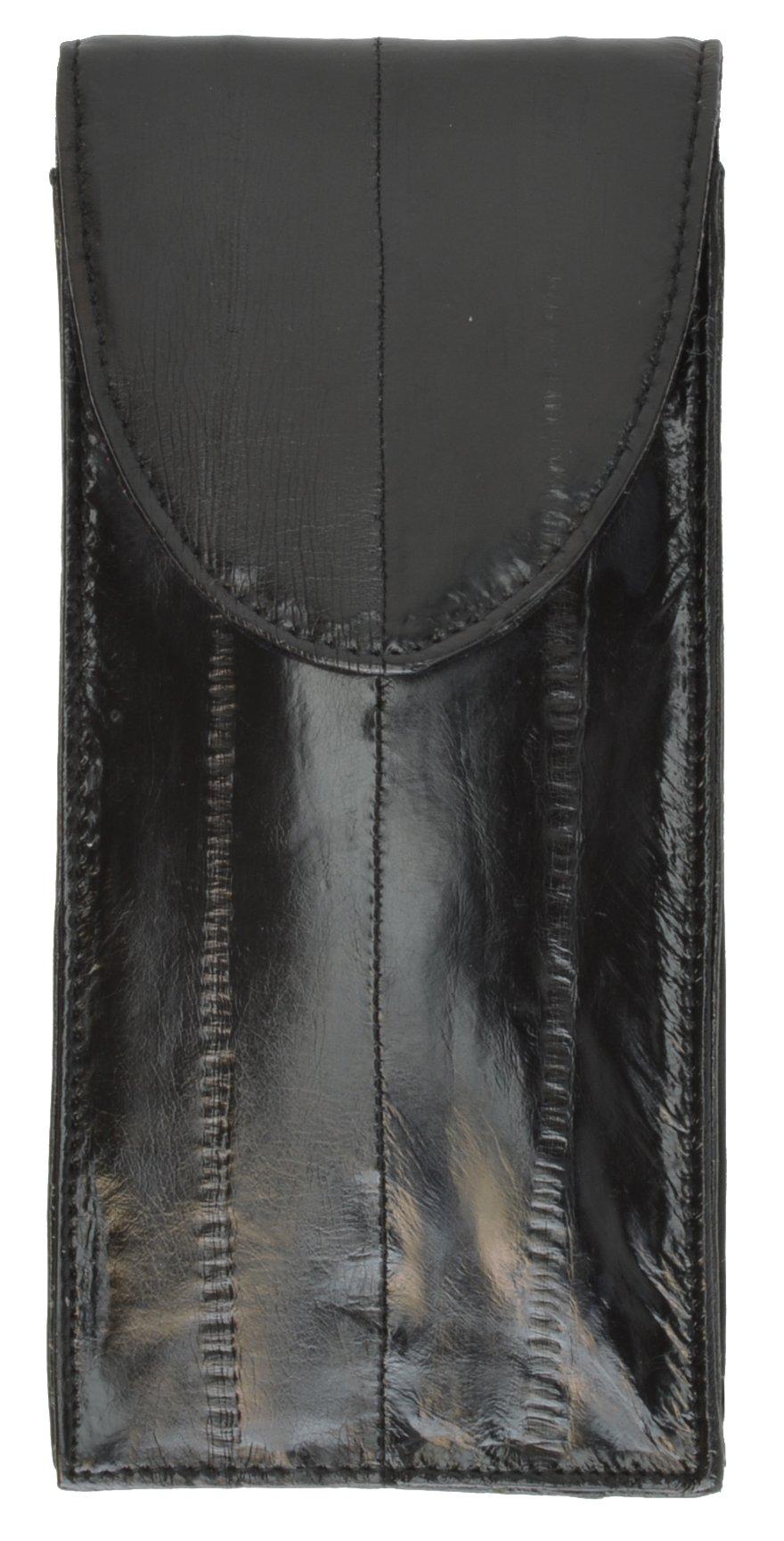 Genuine Eelskin Soft Leather Eyeglass Holder Case by Marshal