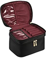 CHICECO Nylon Large Brush Case Travel Makeup Bag - Double Layer