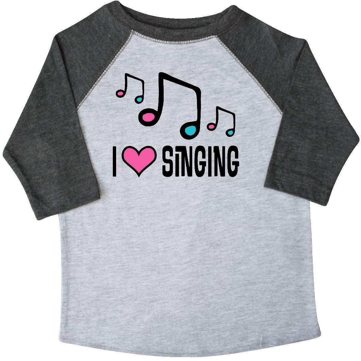 inktastic Choir Singer Music I Love Singing Toddler T-Shirt