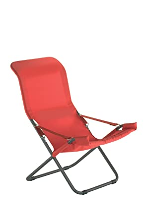 fiam 127pe anro fauteuil relax de jardin acier rouge 61 x 97 x 94 cm - Relax De Jardin