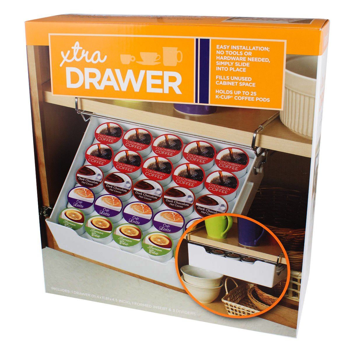 Kamenstein - XTRA Drawer - Holds 25 K-Cup Coffee Pods