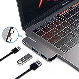 """OneOdio USB C ハブUSB Type C ハブ MacBook Pro 13""""/15"""" 2016&2017対応 4K HDMIポート USB 3.0ポート*2 Micro SD/SDカードリーダー サンダーボルト3 充電ポートドッキングステーション アルミニウム (3in1ケープル)"""
