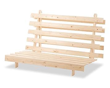 humza amani wood luxury 2 seater metro futon sofa bed frame   natural humza amani wood luxury 2 seater metro futon sofa bed frame      rh   amazon co uk