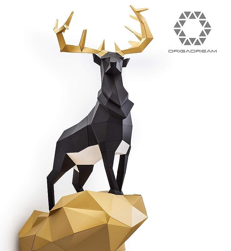 Amazon.com: ORIGADREAM, 3D Paper Model Deer pre-cut Kit Modern Puzzle (Origami Papercraft): Handmade