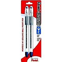 Pentel R.S.V.P. Ballpoint Pen, Fine Line, Blue Ink, 2 Pack (BK90BP2C)