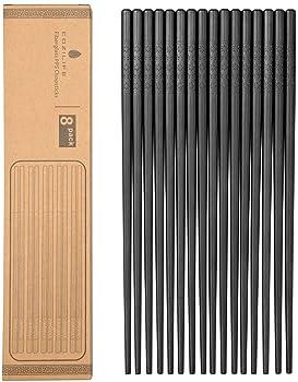 Cozilife 8 Pairs Of Premium Reusable Chopsticks