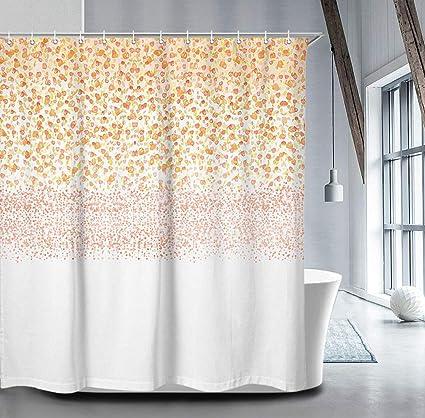 Amazon LIVILAN Floral Shower Curtain Set With 12 Hooks 708 X Blush Petals Rain Decorative Thick Polyester Fabric Bathroom Home