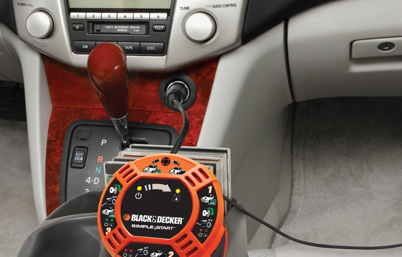 12V Black+Decker Black /& Decker BDBBC2C-XJ BDBBC2C Cables De Arranque F/ácil
