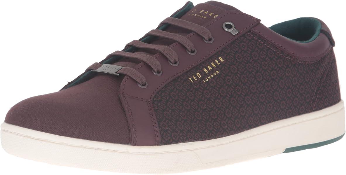 47ea2cf6f4376e Amazon.com  Ted Baker Men s Keeran 4 Fashion Sneaker Dark Red 8.5 M ...