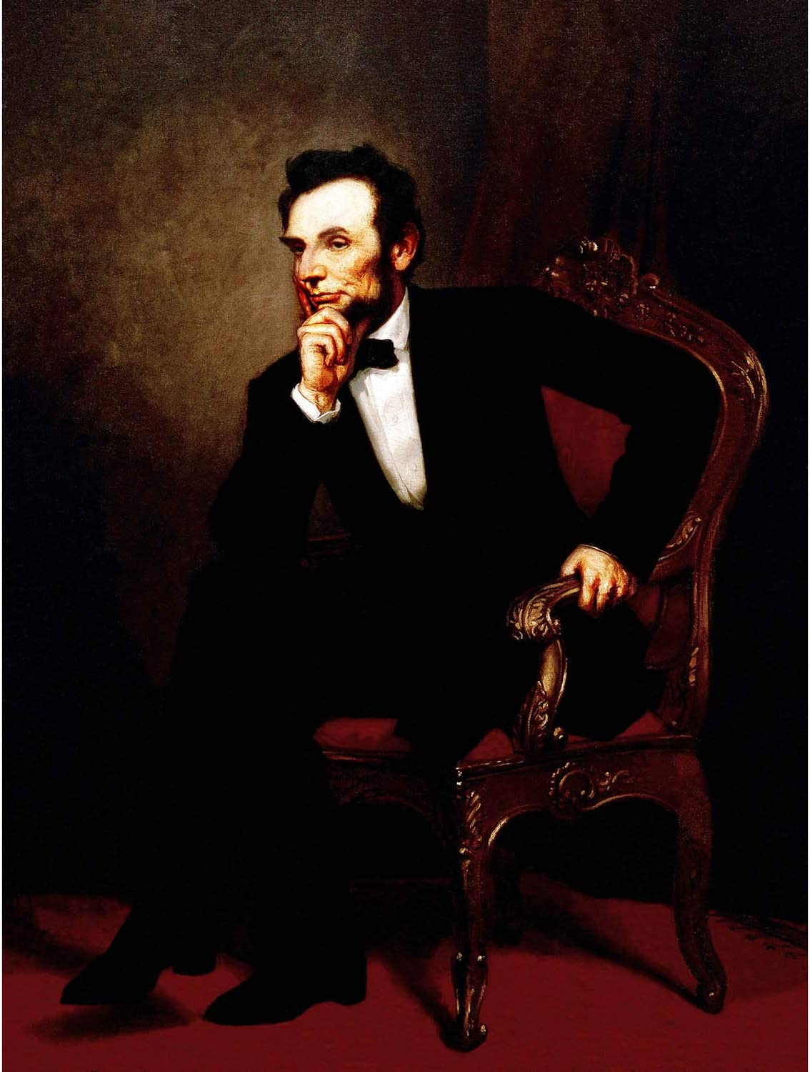 Wee Blue Coo Painting Portrait Healy President Abraham Lincoln Unframed Wall Art Print Poster Home Decor Premium