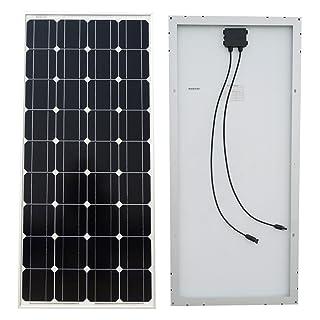 ECO-WORTHY 100 Watt 100 W Panel Solar fotovoltaico monocristalino de generación fotovoltaica módulo de 12 V Cargador de Batería