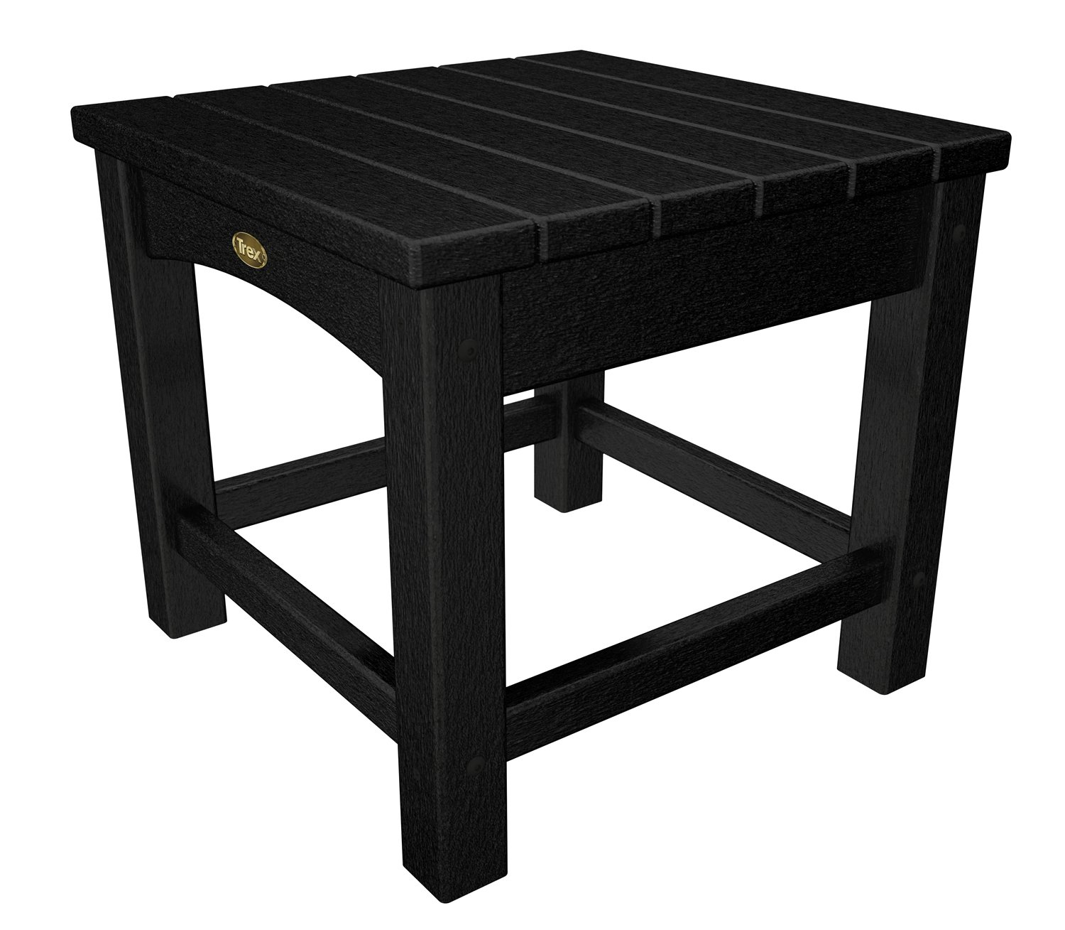 Trex Outdoor Furniture Rockport Club 18-Inch Side Table, Charcoal Black