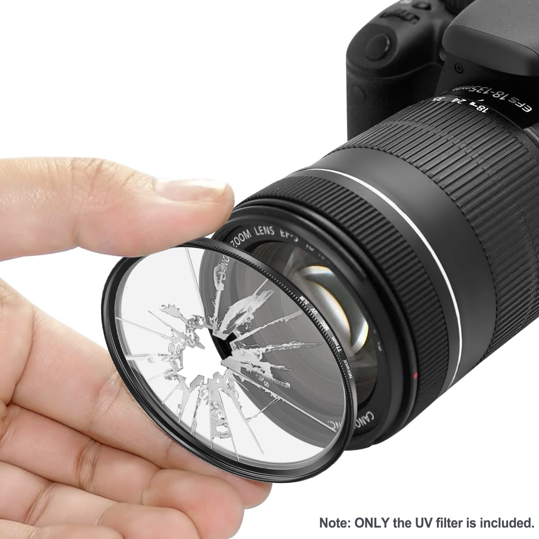 Neewer Multi-Coated High Definition Protective UV Filter with Aluminium Alloy Frame for Canon EOS Nikon D600 Digital SLR Cameras 6D//5D Mark III