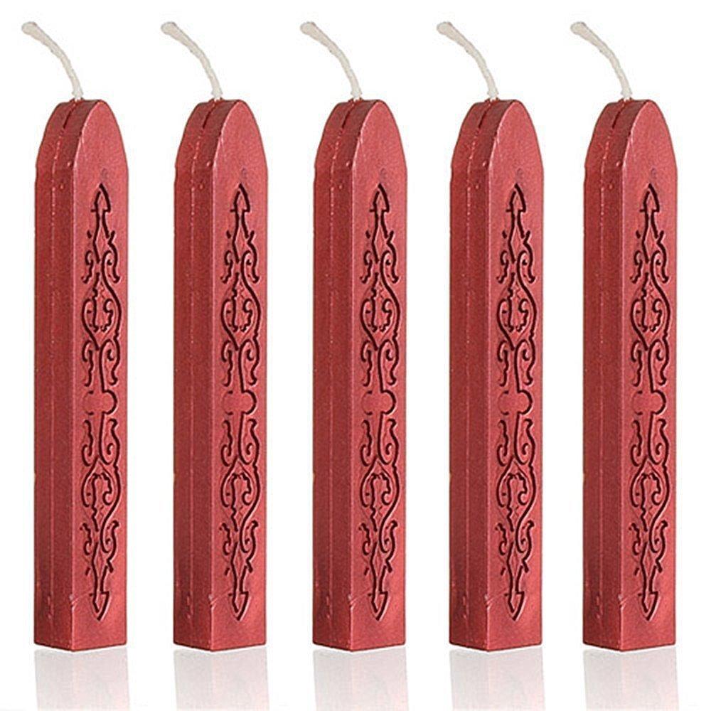 Burgundy ANKKO 100Pcs Wine Red Wax Wicks Sticks for Postage Letter Manuscript Sealing Seal