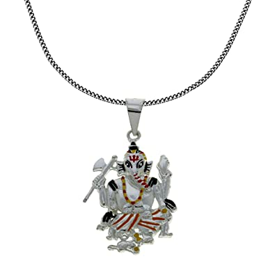 Buy colourful lord ganesh pendant and chain 925 sterling silver colourful lord ganesh pendant and chain 925 sterling silver jewellery aloadofball Image collections