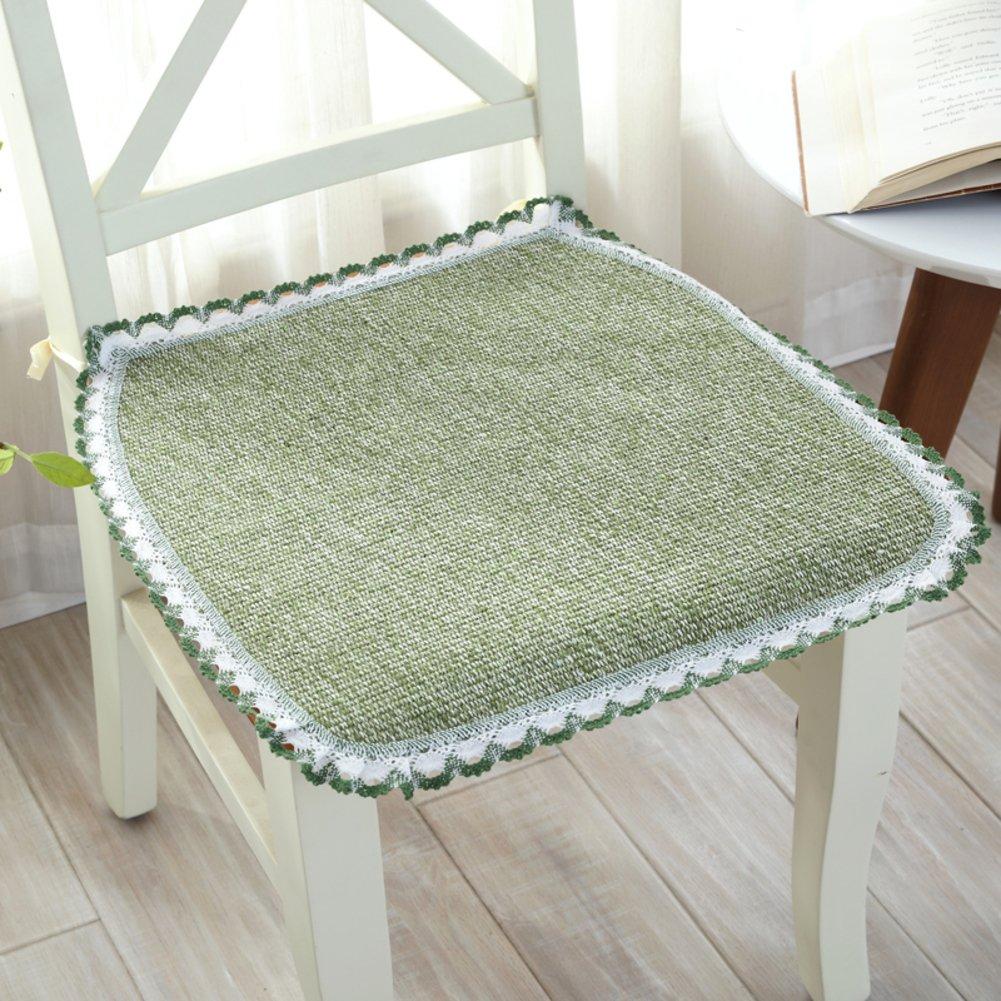oshdkslds夏ダイニング椅子クッションコットンニット椅子マットオフィスコンピュータ椅子パッド 20*20in グリーン DIPDJSPGS B07BQFTWYV  グリーン 20*20in