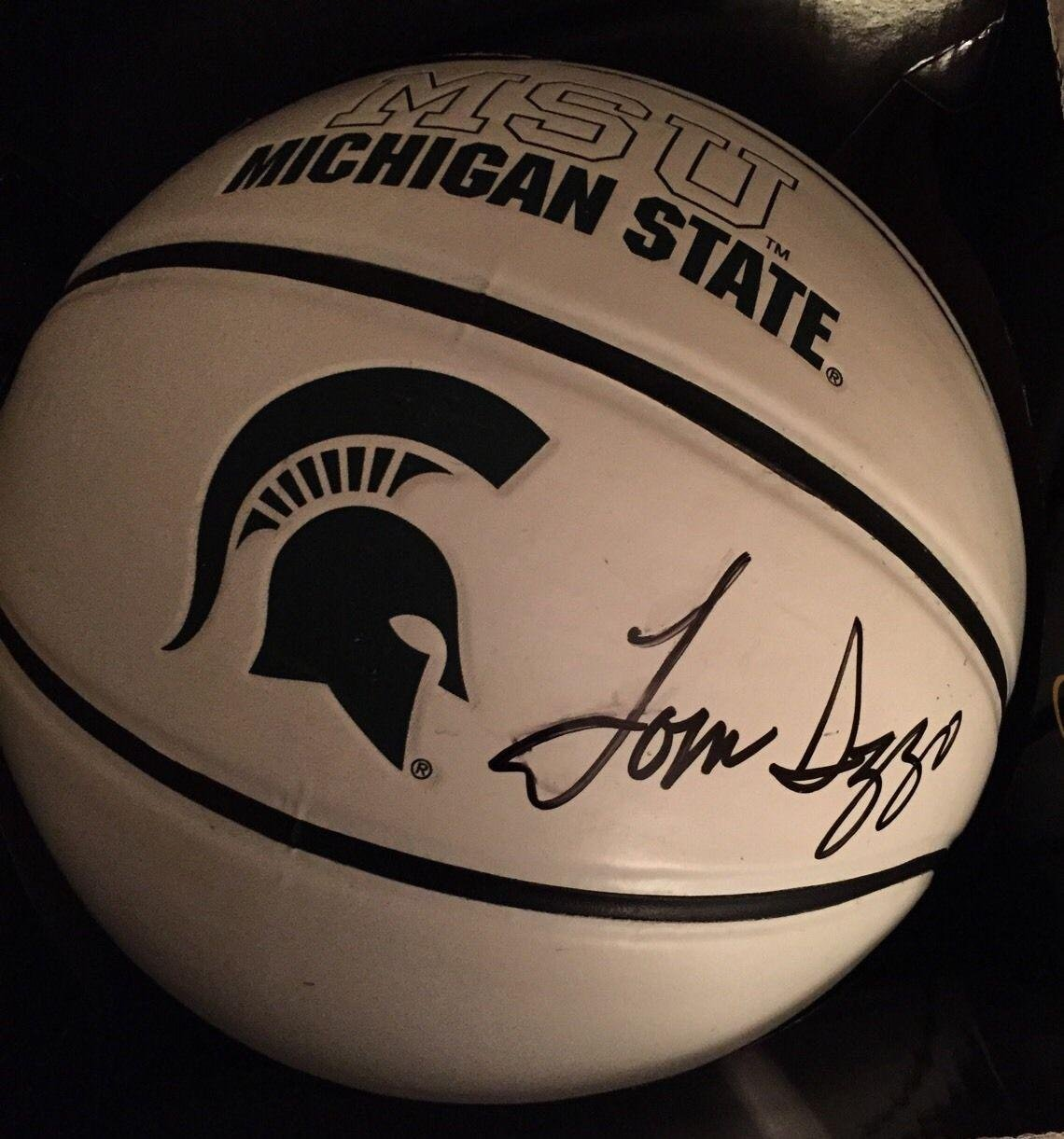 e6d562736608 Tom Izzo Signed Michigan State Logo BasketBall Autographed Proof Shot Plus  - JSA Certified - Autographed College Basketballs at Amazon s Sports  Collectibles ...