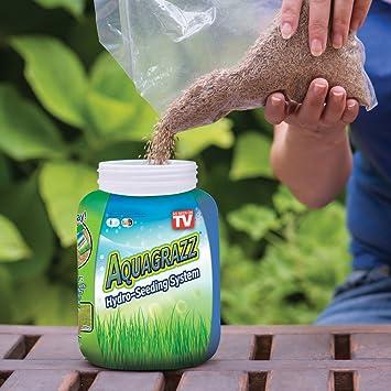 Sistema de siembra para césped Aquagrazz: Amazon.es: Hogar