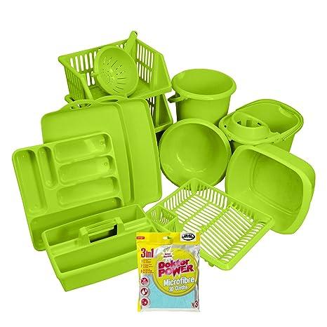 CrazyGadget® set da 12 pezzi di accessori per cucina in plastica ...