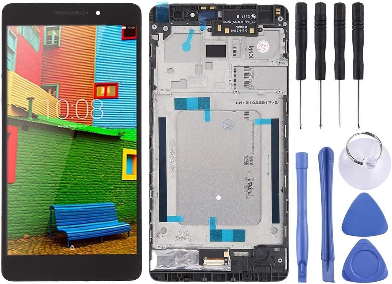Wangl Lenovo Spare LCD Screen and Digitizer Full Assembly with Frame for Lenovo PHAB Plus PB1-770 PB1-770N PB1-770M (Black) Lenovo Spare (Color : Black)