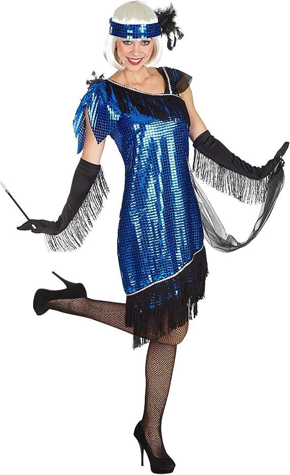 Charleston Zwanziger años Completo Disfraz Mujer 3 Piezas ...