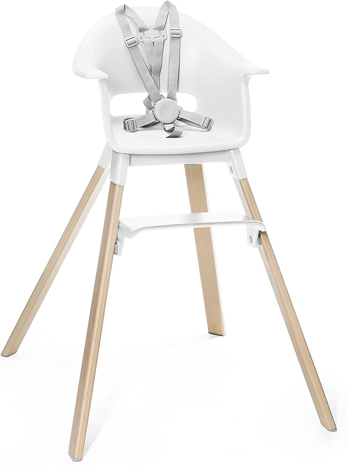 Colour: White Suitable from 6 Months to 3 Years Adjustable Grow-Along Chair for Children with Tray and Safety Harness Stokke Clikk High Chair