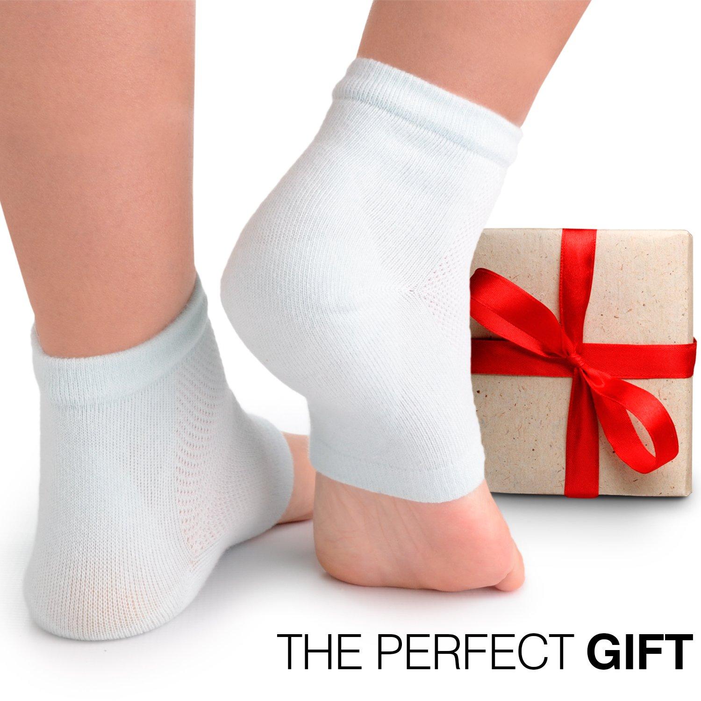 Cracked Heels Moisturizing Gel Socks + Bonus Gift – Softening Essential Oil Infused Sleeves for Women & Men| Soothing Spa Vented Rough Skin Treatment for Dry Feet | Moisturizer Repair - by CareMe+ by CareMe+ (Image #8)