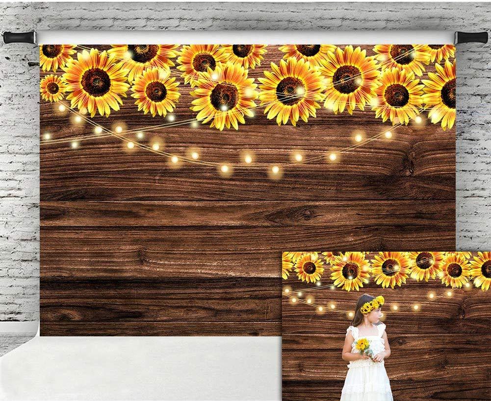 silk flower arrangements fanghui 7x5ft sunflower wooden floor backdrop baby shower wedding birthday party banner decor supplies sunflower theme party photography background photo booth props