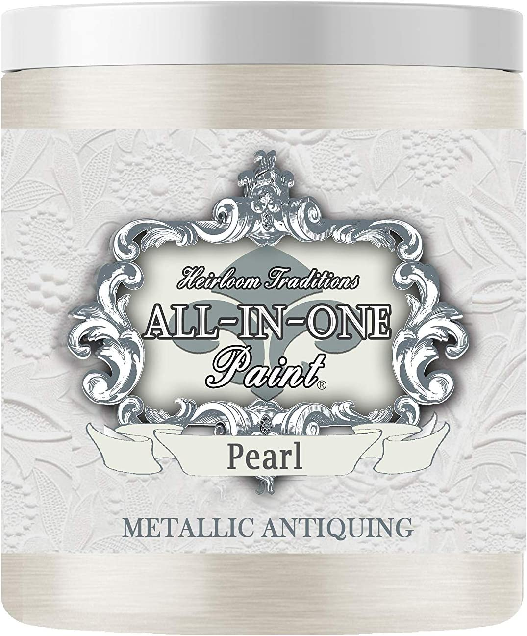 Pearl Metallic Antiquing Gel, Heirloom Traditions All-in-ONE Paint, 8oz