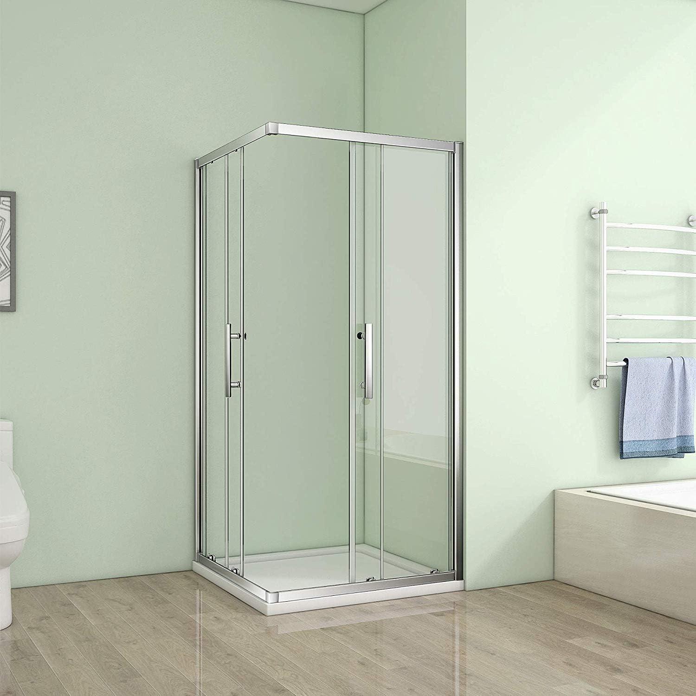 120 x 120 x 185 cm esquina. Mampara de ducha puerta corredera esquina ducha NS10: Amazon.es: Hogar
