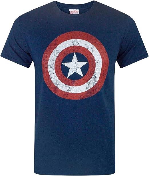 MARVEL Comics Captain America 75th Anniversary Logo Style T-Shirt Tee Licensed
