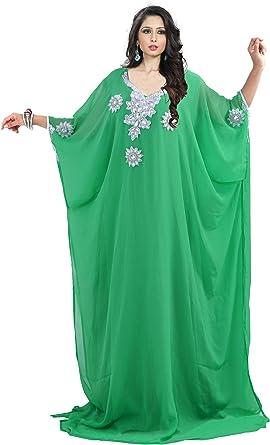Evening wear Beach Design NO 17 ONE Size Dubai Middle East Bollywood Style Handmade Designer Kaftan Caftan Farasha Jalabiya Dress Abaya Casual Dress for Party Event Royal Swag