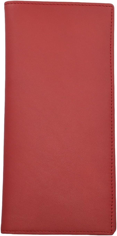 Royce Leather RFID blocking Passport /& Ticket Holder One Size, Red
