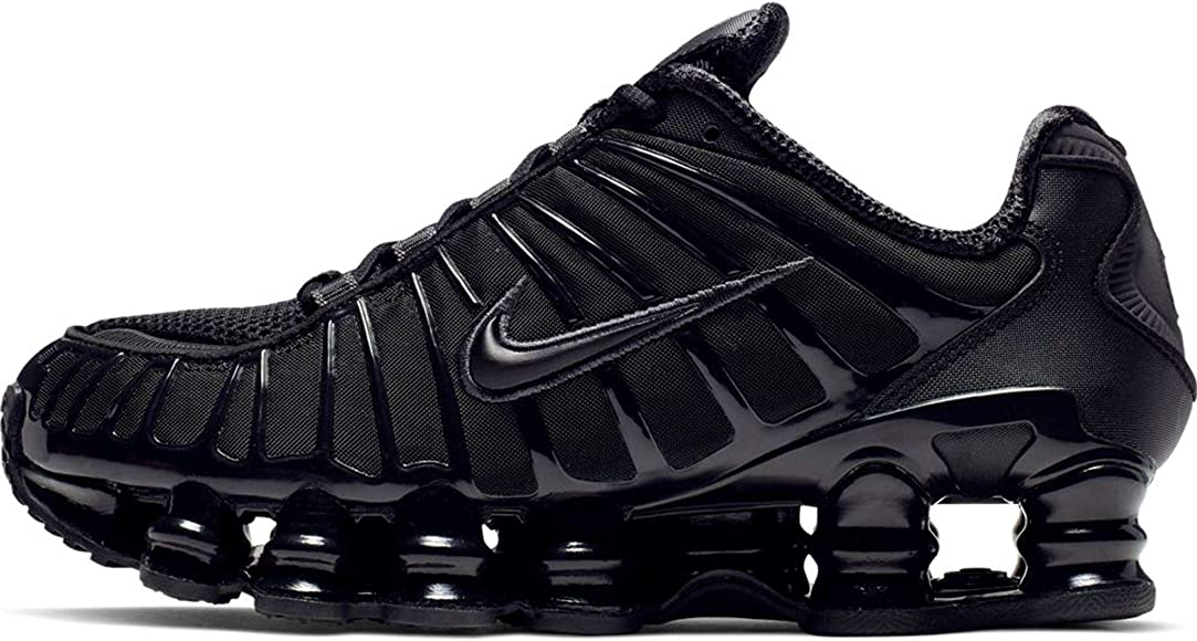 Nike W Shox TL, Zapatillas de Atletismo para Mujer, Multicolor (Black/Black/Mtlc Hematite/MAX Orange 000), 38.5 EU: Amazon.es: Zapatos y complementos