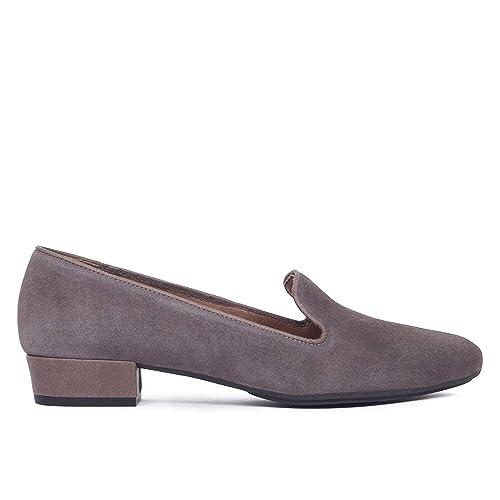 Slipper - Zapato Slipper de Mujer Gris: Amazon.es: Zapatos y complementos