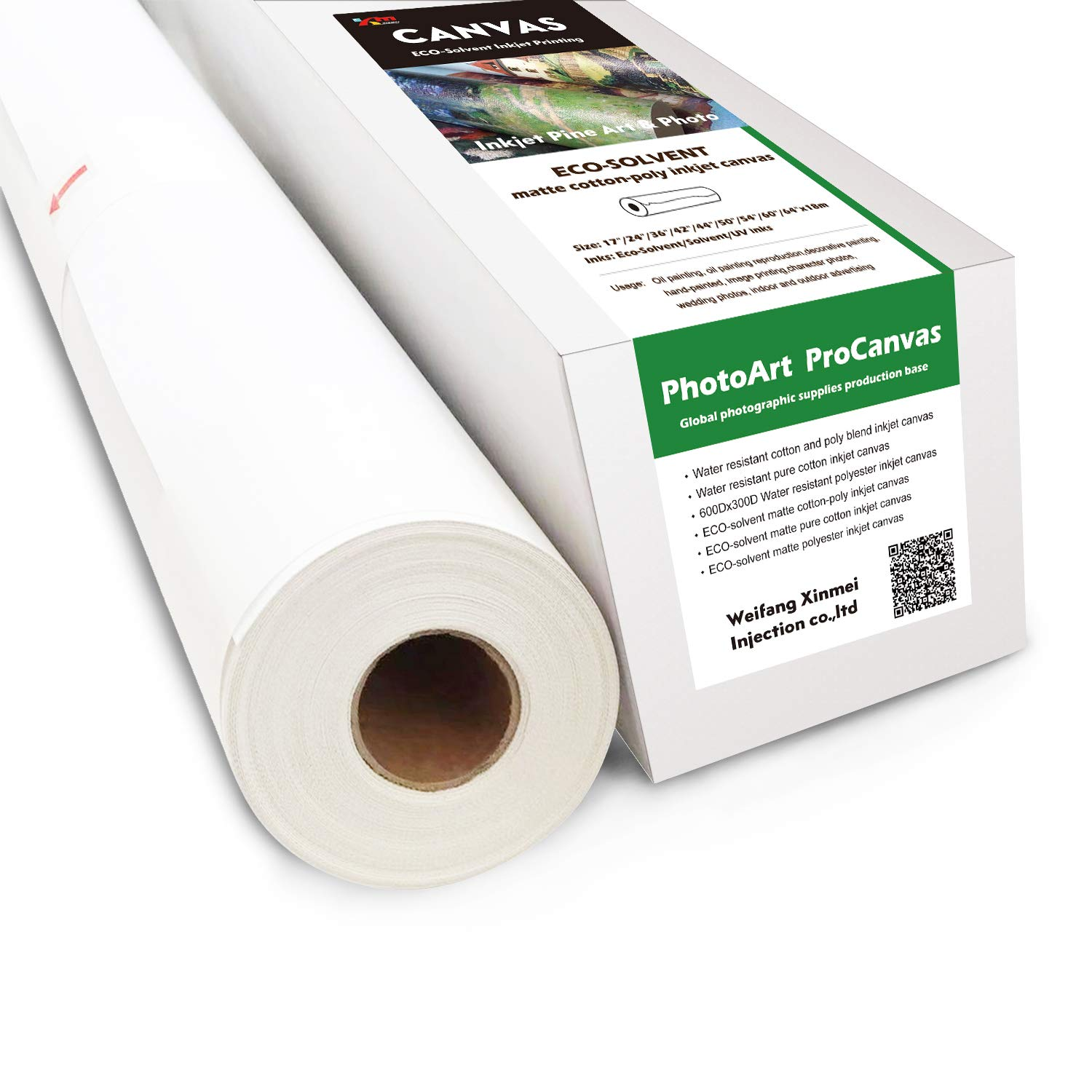 Eco-Solvent Matte Cotton & Poly Blend Inkjet Canvas (42'' x 60'(Pack of 4)) by Sheepcamel