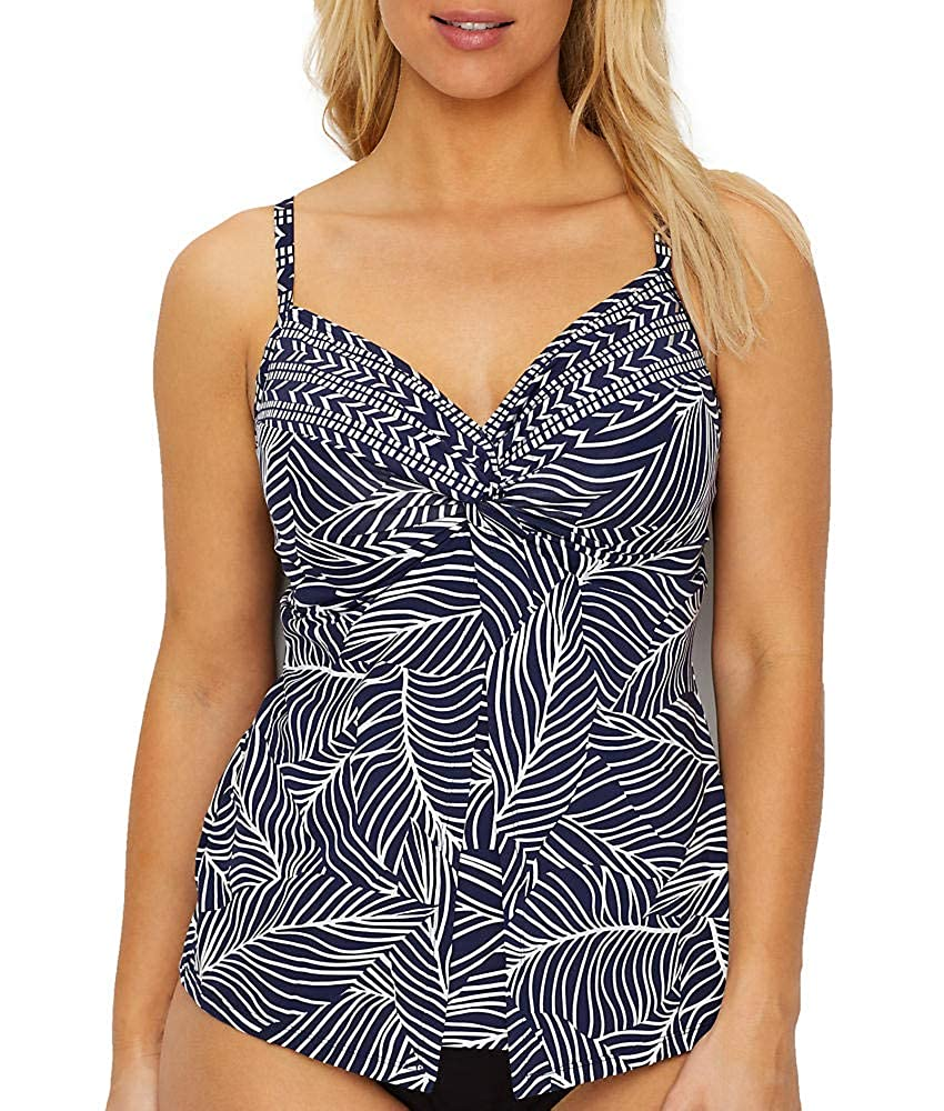 7ad595b2e063e Miraclesuit Swimwear Lush Lanai Love Knot Sweetheart Neckline Underwire Bra  Full Bust Support Tankini Bathing Suit Top: Amazon.co.uk: Clothing