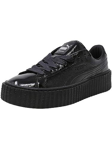 37cbad46467 Puma Creeper Wrinkled Patent Fashion Sneaker - 5.5M - Puma Black/Puma Black