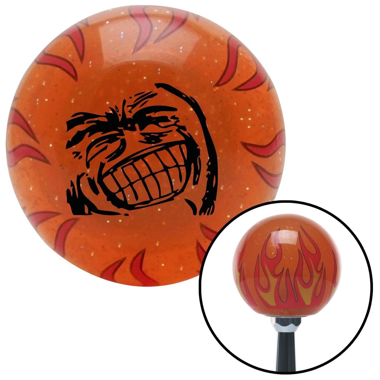 American Shifter 254052 Orange Flame Metal Flake Shift Knob with M16 x 1.5 Insert Black Big Grin Meme