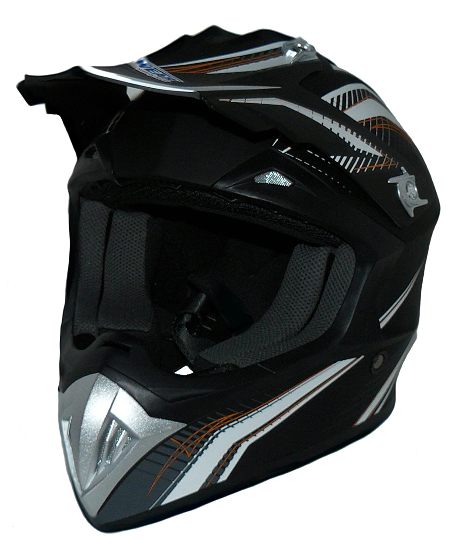 FS603-SW casque Enduro Taille: L casque de cross noir-blanc Protectwear casque de moto