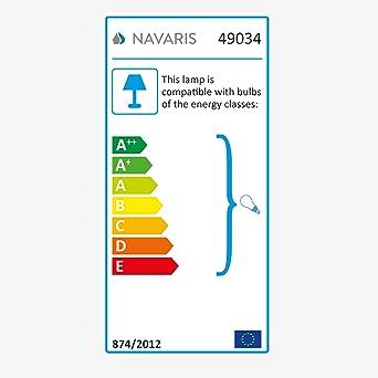 Navaris LED Stehleuchte r/öhrenf/örmig mit Flammeneffekt Ausgefallene Deko Stehlampe inkl warmwei/ß E14 LED Leuchtmittel 80 x 13 x 13cm 3W