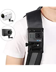 Taisioner Backpack Strap Knapsack Shoulder Mount Fixed Holder for GoPro Hero 5/6 / 7 / Funsion/Session/Polaroid/Xiaoyi/SJCAM/Sony Action Camera Accessories