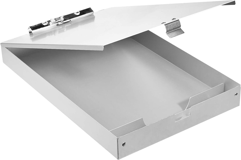 "AmazonBasics Aluminum Storage Clipboard - 14"" x 9"", Two-Tier, Standard Clip"