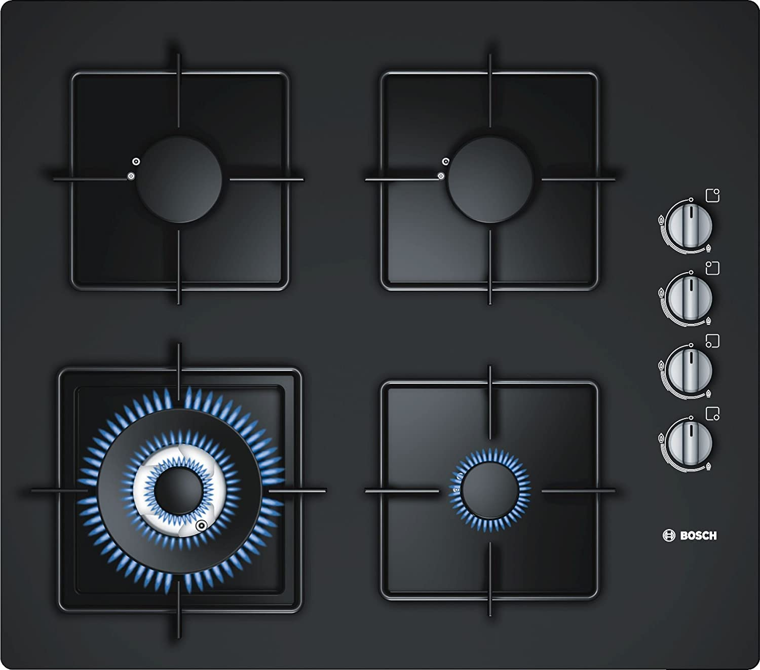 Bosch Black PPC7S6F201 Built-in gas hob
