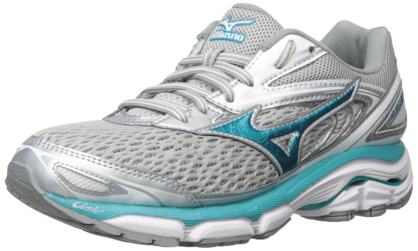 Mizuno Women's Wave Inspire 13 Running Shoe B01NGTY1J9 8.5 B(M) US|Silver/Tile Blue/Griffin