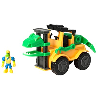 Educational Insights Dino Construction Company Snap the Velociraptor Forklift: Toys & Games