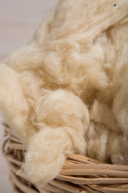 Imbottitura di lana 100/% naturale Spazzolata e lavata 2 Pounds Certificata OEKO-TEX/® Naturale
