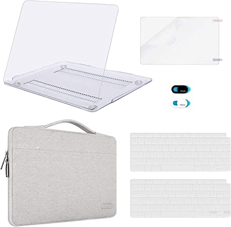 Cute Tablet Sleeve Force of Badness Stitch Prints Laptop Computer Bag Slim Polyester Notebook Bag Computer Accessories White 13inch