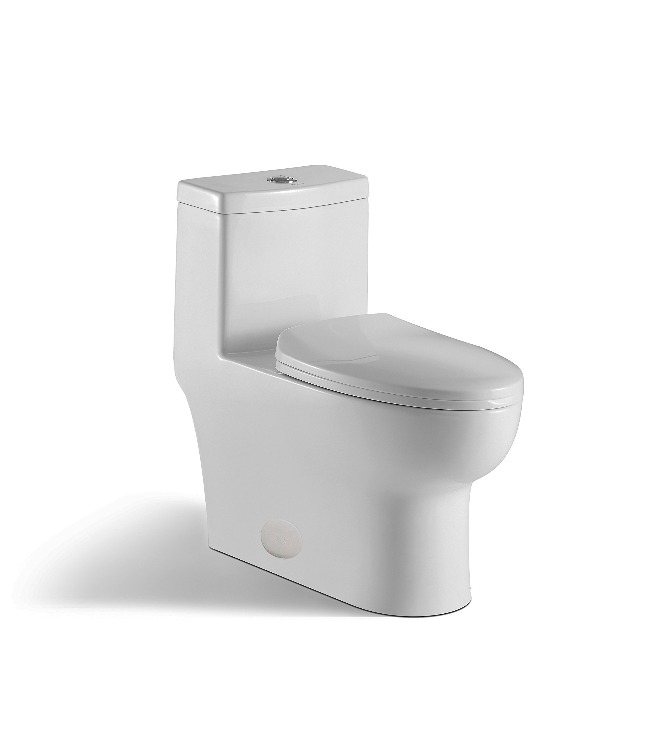 innoci-usa Contour 1-piece 0.8 GPF/1.28 GPF High Efficiency Dual Flush Elongated Toilet in White