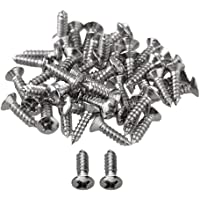 BQLZR Chrome Guitar Bass Pickguard Screws Pack Of 50